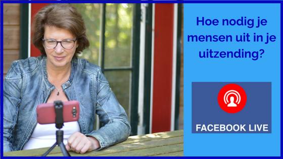 Hoe nodig je iemand uit in je Facebook live-uitzending?