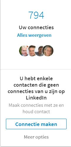 LinkedIn Mijn netwerk - Connecties