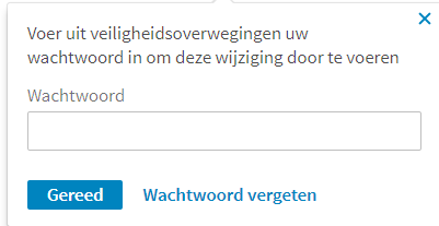 Wachtwoord LinkedIn